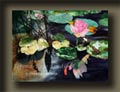 Paintings from the past, from the artist's series of water garden imagery.